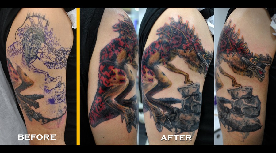 Dragon  Color  Colour  Tattoo  Sleeve  Realistic Color