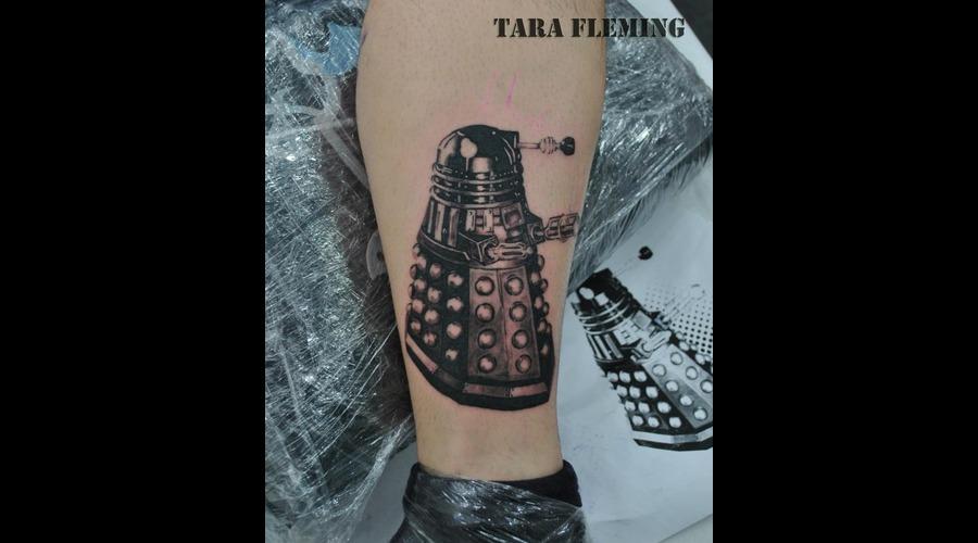 Dalek  Tattoo  Doctor  Who Black White