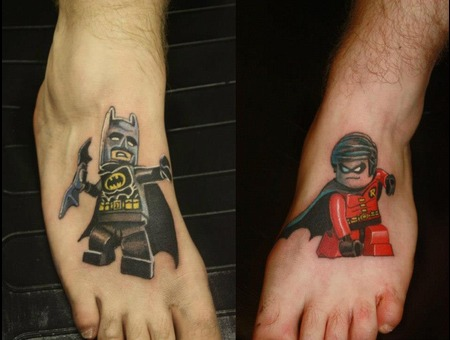 Lego Batman And Lego Robin Color