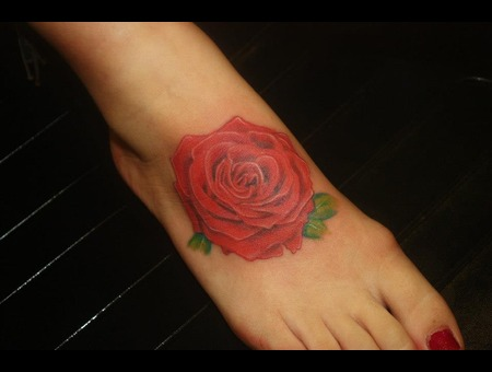 Realism Rose Tattoo Color
