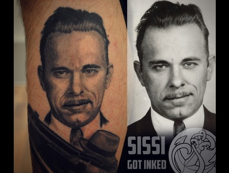 Portrait  John Dillinger  Gangster Black Grey