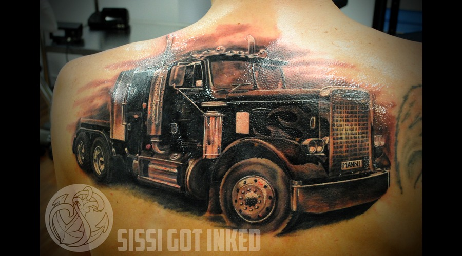 Truck  Realistic  Backpiece   Black Grey