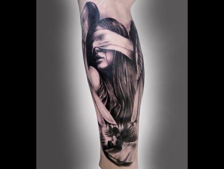 #Silvano Fiato #Angel Black White