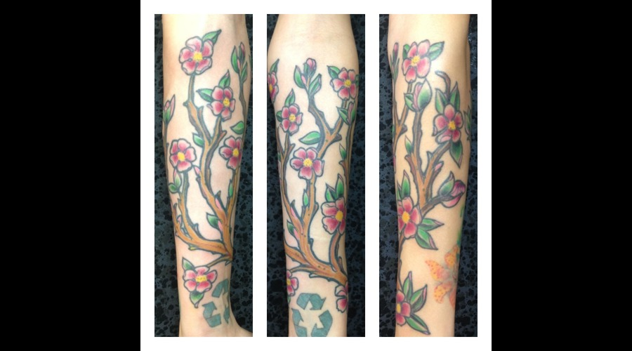 This Was A Cover Up Of An Already On There Blossom Branch . Color