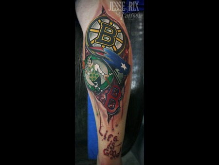 100 boston sports tattoo crowned boston red sox sports tattoo on leg in 2017 real photo. Black Bedroom Furniture Sets. Home Design Ideas