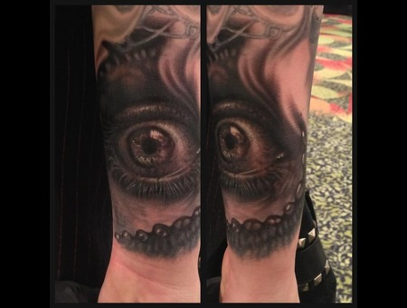 Eye Tattoo Black White