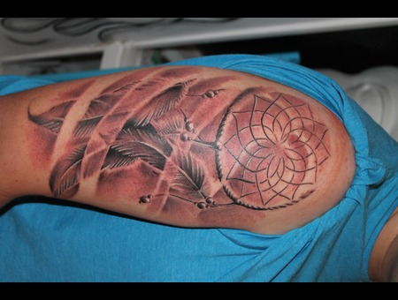 Dreamcatcher  Realism  Freehand Black Grey Arm