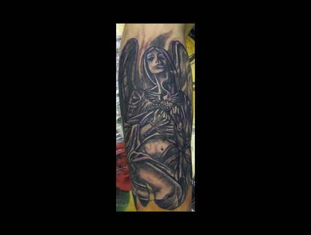 Angel And Fire Cover Up Demongrafix666 Synyster Ink  Jon Barber  Color