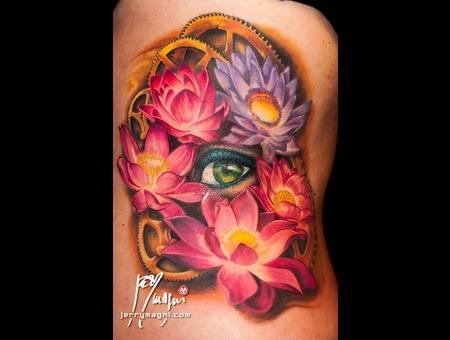 Eye  Lotus Flower  Gears  Color
