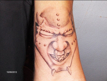 Evil  Demon  Black And Grey Black Grey Forearm