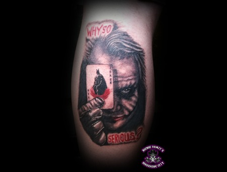 Batman Joker Heath Ledger Black White