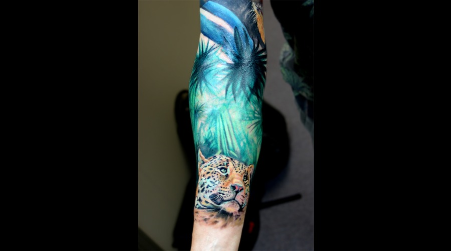 Leopard  Color Tattoo  Jungle  Realism Color