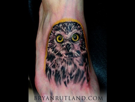 Owl  Black And Gray  Black And Grey  Foot  Foot Tattoo Black White