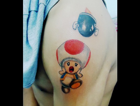 Toad Tattoo Color