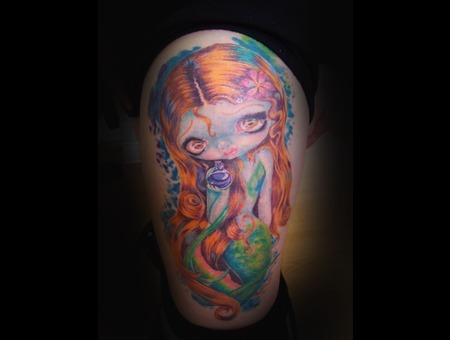 Mermaid  Doll  Tattoo Color