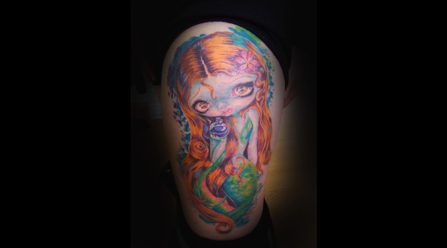 Mermaid  Doll  Tattoo Color