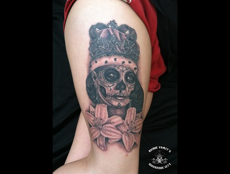 Day Of The Dead Dia De Los Muertos Black White