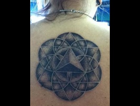 Dotwork Sacred Goemetry Mandala Black White