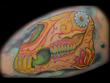 Skull Dayofthedead Color