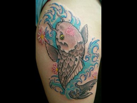 Koi Water Women Womens Tattoos  Color