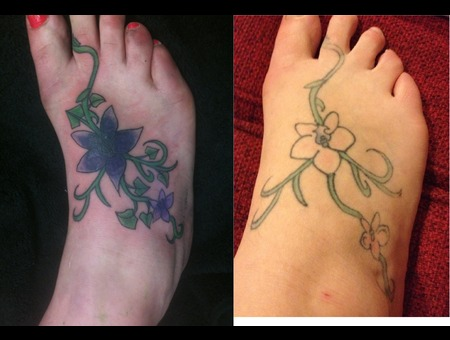 Foot  Cover Up  Flowers  Vine  Color