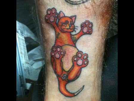 Cat  Kitty  Cartoon  Self Tattoo Color