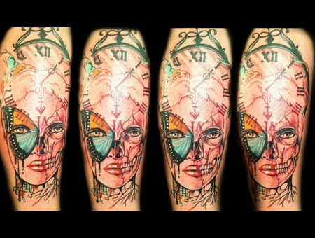 Trent Valleau  Tattoo Color