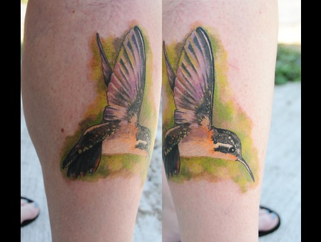 Trent Valleau Bird Tattoo Color