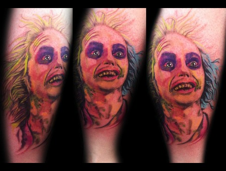 Beetlejuice Tattoo By Trent Valleau Color