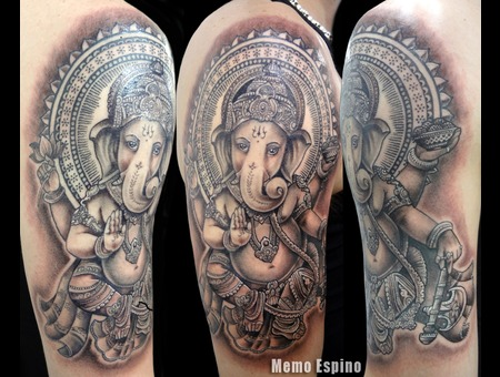 Ganesha  Ganesh Black White