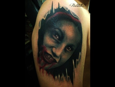 Girl  Zombie  Blood  Color