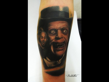 Lon Chaney  London After Midnight  Zombie  Vampire Color