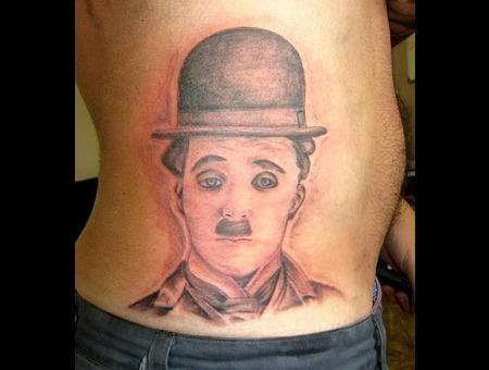 Charlie Chaplin  Portrait  Black White