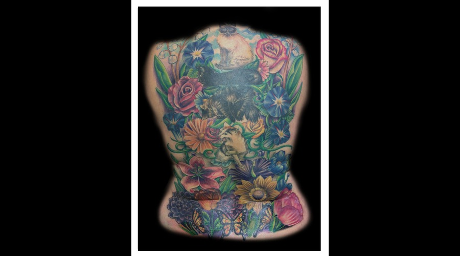 Flower  Backpiece  Cat Color