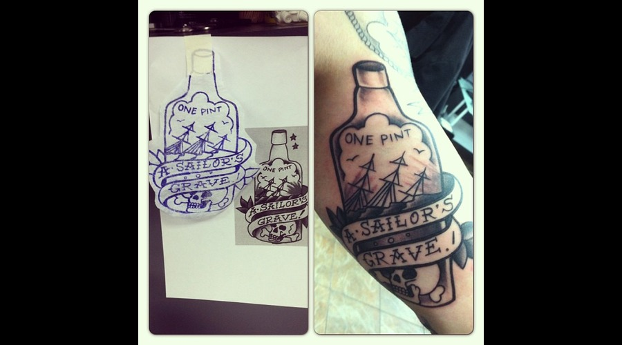Sailor Jerry Black White
