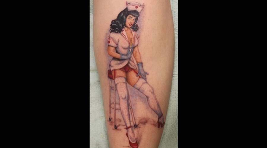 Pin Up Color Lower Leg