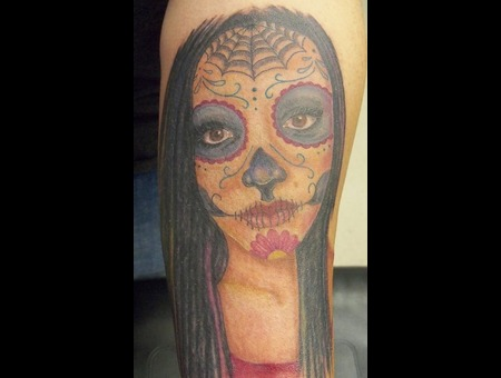 Sugar Skull  Portrait Color