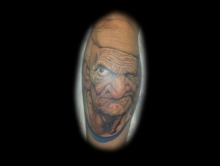 Award Winning Popeye  Realistic  Portrait Color