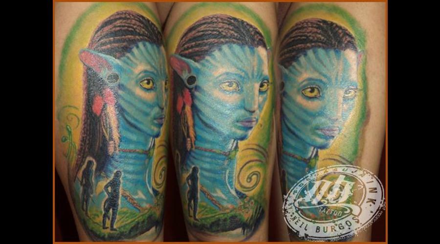 Avatar Neytiri Beach Break 2013   1st Runner Up Colored Color Lower Leg
