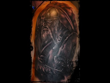 Viking'jeff'brasov' Black White Shoulder