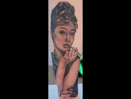 Audrey Hepburn  Traverse City Tattoo  Ram Lee Tattoo