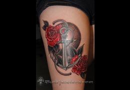 Trueartists gus kalavera for Anchor tattoo seattle