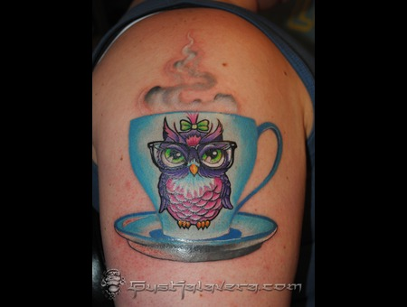 Cute Owl Cup Seattle  Gus Kalavera Color