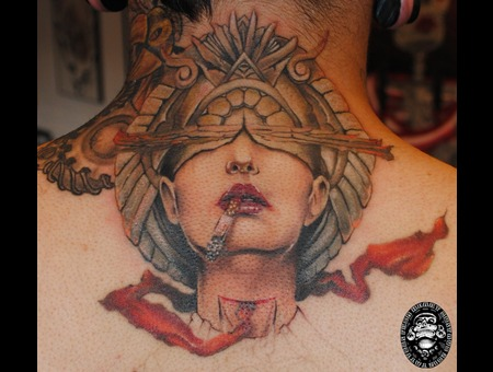 Girl Back Tattoo Gus Kalavera Seattle Color