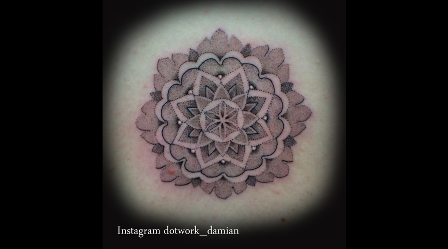 Mandala On Back Black White