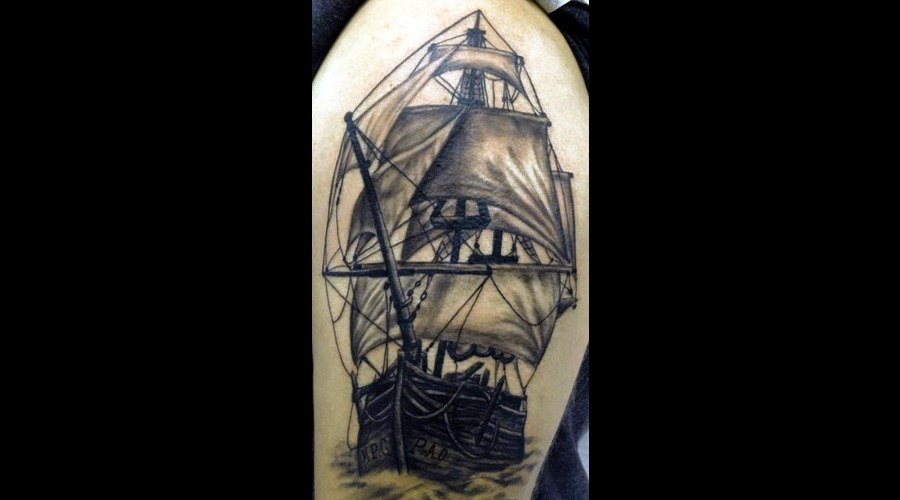 Pirate Ship  Tall Ship Black White