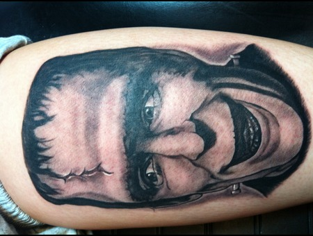 Portrait Tattoo  Munsters Black White
