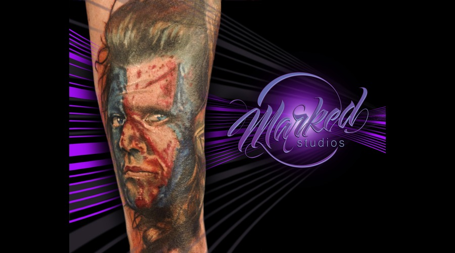 Reno  Tattoo  Marked  Braveheart  Portrait  William Wallace  Tattoos Forearm