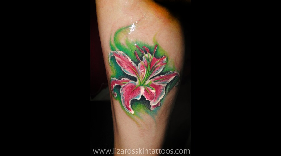 Orchid  Photo Realism Color Lower Leg
