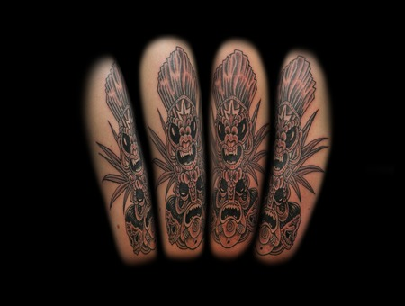 Tiki  Laugh Now Cry Later  Black And Grey Black Grey Arm